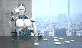 Robotraadsel stock illustratie