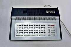 Robotron KC 87. The Robotron KC 87, fully known as the Kleincomputer robotron KC 87, was an 8-bit home computer released in 1987 and produced in East Germany by stock photo