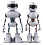 Robots. Fun 3d robot, 3d generated picture Stock Image