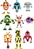 Robots. A  illustration of a set of robots Stock Photography