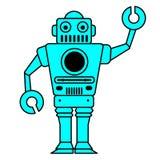 Robots Royalty-vrije Stock Afbeeldingen