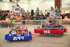Robots in Actie Stock Foto's