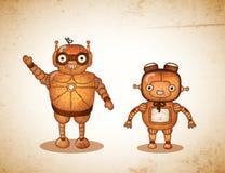Robots amistosos del inconformista stock de ilustración