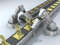 Robots avec des dollars illustration de vecteur