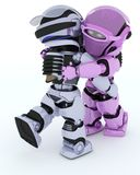 Robots ballroom dancing Royalty Free Stock Photo