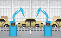 Robots car Royalty Free Stock Image