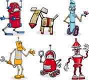 Robots cartoon illustration set Royalty Free Stock Image