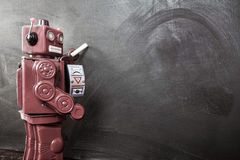 Robots chalk Royalty Free Stock Photography