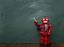 Robots chalk Royalty Free Stock Photography