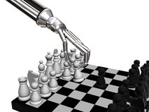 Robots chess Stock Image