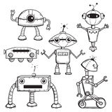 Robots collection. Isolated, vector illustration Stock Photo