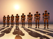 The Robots. Computer generated 3D illustration with robots Royalty Free Stock Image