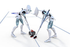 Robots Curling stock photo