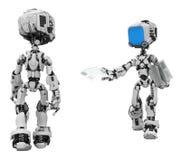 Robots d'écran bleu, communiqué illustration libre de droits