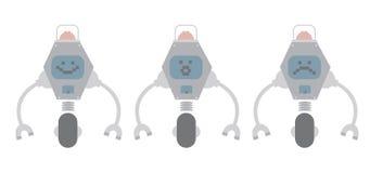 Robots de acero Fotos de archivo libres de regalías