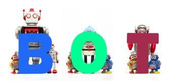 Robots de BOT Photographie stock libre de droits