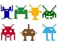 Robots de espacio Imagen de archivo libre de regalías