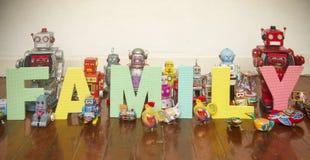 Robots de famille Photos stock