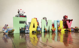 Robots de famille Images libres de droits