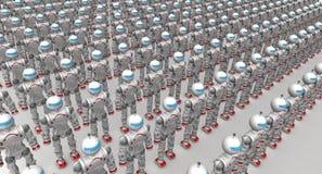 Robots de humanoïde Photographie stock