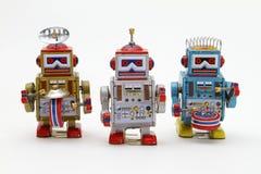 Robots de jouet de bidon Images stock