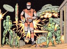 Robots de la batalla Imagen de archivo libre de regalías