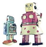 Robots de la madre y del hijo Foto de archivo libre de regalías
