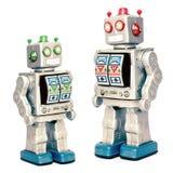 Robots de père et de fils Photo libre de droits