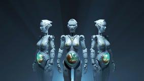 Robots del  i fi del sÑ del robot de la tecnología libre illustration
