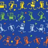 Robots del baile stock de ilustración