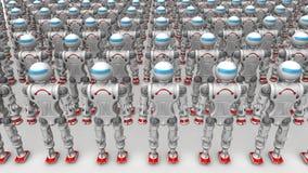 Robots del Humanoid ilustración del vector