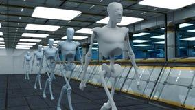 Robots del SCIFI Foto de archivo libre de regalías