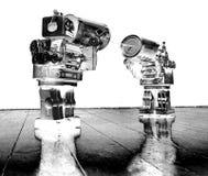 Robots del teléfono de la lata foto de archivo libre de regalías