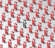 Robots del vector Imagenes de archivo