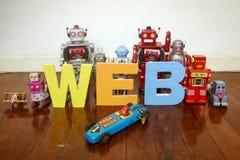 Robots del web Imágenes de archivo libres de regalías