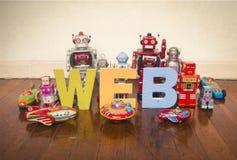 Robots del web Fotografía de archivo