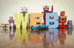Robots del web Fotos de archivo libres de regalías