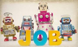 Robots des travaux modifiés la tonalité Images libres de droits