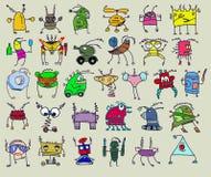 Robots divertidos libre illustration