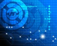 Robots en elektronikaconcept Stock Afbeeldingen