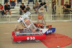Robots en la acción Foto de archivo libre de regalías