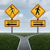 Robots et concept de société Photo stock