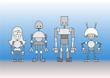 Robots family Royalty Free Stock Photos