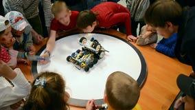 Robots festival Robotica 2015 in Kiev, Ukraine, stock footage
