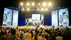 Robots festival Robotica in Kiev, Ukraine, stock footage