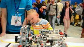 Robots festival Robotica in Kiev, Ukraine, stock video footage
