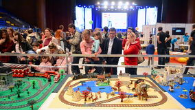 Robots festival Robotica in Kiev, Ukraine, stock video