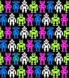 robots Fond sans couture illustration stock