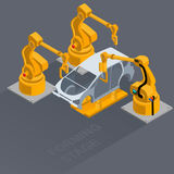 Robots. Form the car body Stock Photography