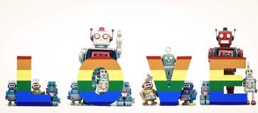 Robots gais Image libre de droits